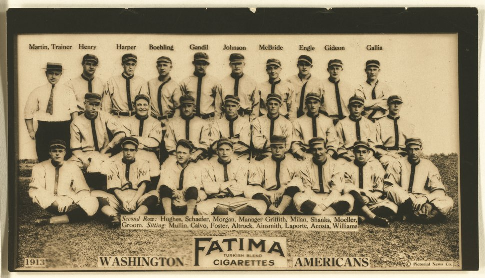 Washington Nationals, baseball card portrait LCCN2007685731