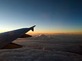Watching clouds from an airplane (2093712323).jpg