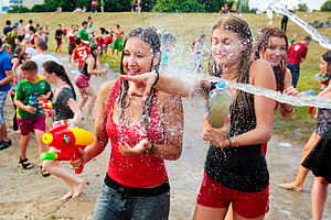 Water fight - Water fight in Vilnius