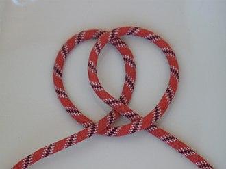 Handcuff knot - Image: Webeleinenstek 1