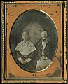 Wedding portrait of Mr. and Mrs. Charles Reed Bishop, June 4, 1850 (daguerrotype, colored).jpg