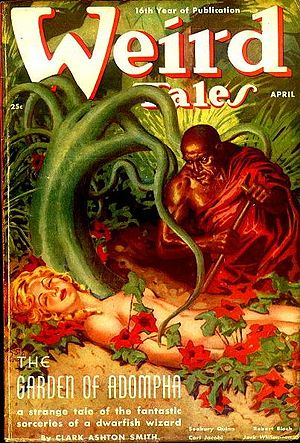 "Zothique - ""The Garden of Adompha"" was the cover story in the April 1938 Weird Tales"