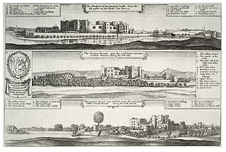 The Princely Pleasures, at the Court at Kenilworth - Image: Wenceslas Hollar Kenilworth Castle. Three views (State 3)