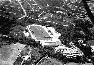 Vista aérea da hípica de Santo Amaro. São Paulo/SP
