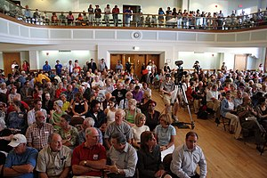 Town hall meeting - A town hall meeting in West Hartford, Connecticut
