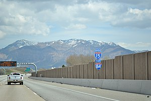 Interstate 84 in Utah - Northbound along I-15/84 in Ogden