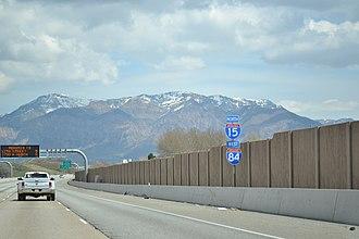 Interstate 84 in Utah - Northbound along I-15/84 in Ogden