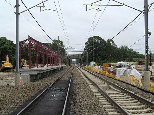 Long Island Railroad Stop Built