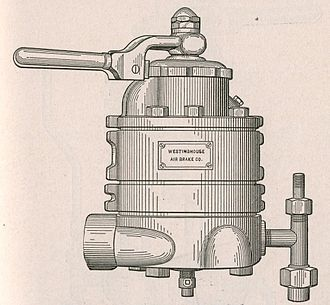 Railway air brake - Control handle and valve for a Westinghouse Air Brake