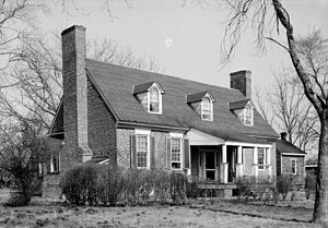 National Register of Historic Places listings in Charles City County, Virginia - Image: Westover Glebe House HABS VA1