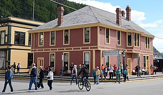 Klondike Gold Rush National Historical Park - The old depot now functions as the NPS Visitors Center