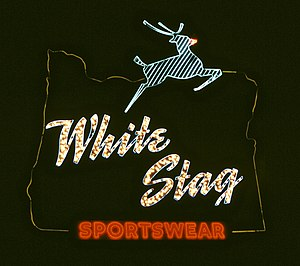 Bill Naito - The White Stag sign in 1984