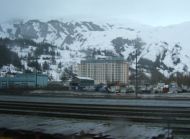 Begich Towers in Whittier, Alaska. Photo by Jessica Spengler.