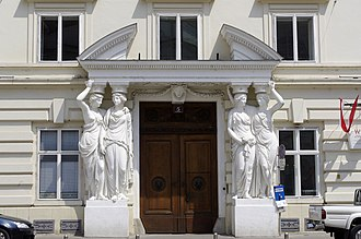 Franz Anton von Zauner - Caryatids at the Palais Pallavicini (mid 1780s) These figures can be seen in Sir Carol Reed's classic film The Third Man