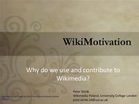 WikiMotivation. Why do we use and contribute to Wikimedia.pdf