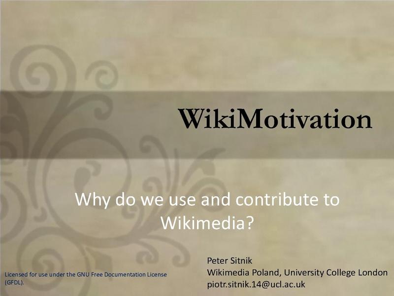 File:WikiMotivation. Why do we use and contribute to Wikimedia.pdf