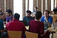Wikimedia Hackathon Vienna 2017-05-19 Hacking Gurkerl 003.jpg
