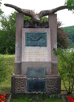 Wilhelm Kress - The Wilhelm Kress monument near the Wienerwaldsee
