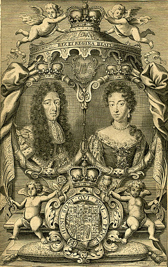 Engraving of William III and Mary II, 1703 William&MaryEngraving1703.jpg