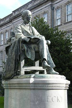 William Edward Hartpole Lecky - His statue at Trinity College, Dublin