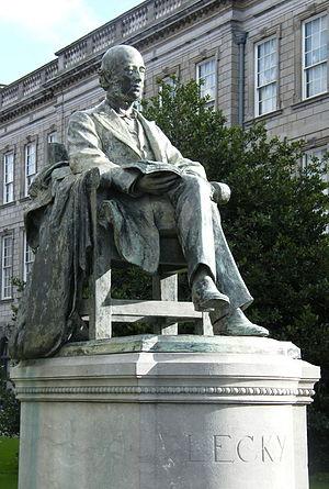 William Edward Hartpole Lecky - His statue at Trinity College, Dublin