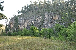 National Register of Historic Places listings in Custer County, South Dakota - Image: Wind Cave NP Beaver Creek Rockshelter Area