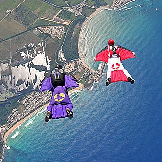 Extreme sport - Wingsuit flying is a recent activity.