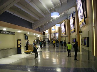 Crisler Center - Image: Wisconsin vs. Michigan women's basketball 2013 46 (Crisler Center interior)