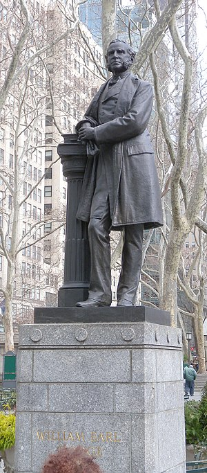 William E. Dodge - Statue of Dodge in Bryant Park