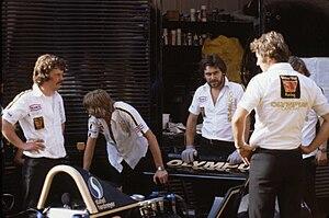1979 Monaco Grand Prix - The Wolf Racing pit crew.