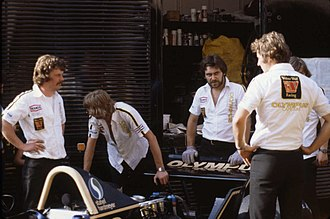 1979 Monaco Grand Prix - The Wolf Racing pit crew.
