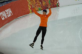Speed skating at the 2014 Winter Olympics – Women's 3000 metres - Image: Women's 3000m, 2014 Winter Olympics, Ireen Wust won
