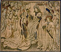 Workshop of Brussel - Tapestry with Ester presented to Ahasuerus - Google Art Project.jpg