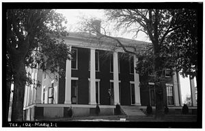 Marshall, Texas - The Wyalucing plantation was the childhood home of Lucy Holcombe Pickens, the only woman whose image was used on Confederate currency. It housed the office of the Trans-Mississippi Postal Department of the Confederacy. In 1880 freedmen bought the plantation and used it for the campus of Bishop College, founded for black students; the main house was used as the president's house.