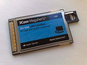 PC Card - A PC Card network adapter
