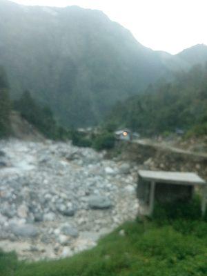 Barkot, Uttarakhand - Yamuna river view from Barkot