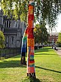 Yarn bombing St Patricks Cathedral Park 1.JPG