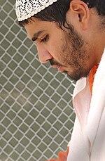 Yaser Esam Hamdi in Camp X-ray, Guantánamo Bay, Cuba - 20020404