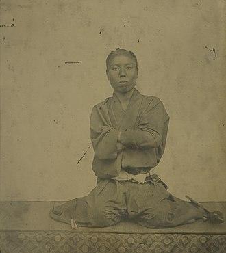 Nomura Yasushi - Young Nomura as a Choshu samurai