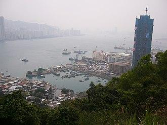 Lei Yue Mun - A photo showing the shores of Lei Yue Mun and Yau Tong, Sam Ka Tsuen Typhoon Shelter and Sam Ka Tsuen.