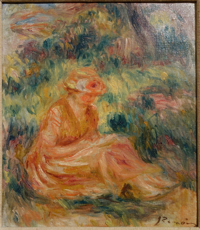 Young Woman in a Landscape by Pierre-Auguste Renoir, c. 1915-1919, oil on canvas - Huntington Museum of Art - DSC05447.JPG