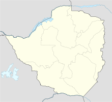 Map of Rhodesia (today Zimbabwe) showing the respective locations of cities and towns relevant to the flight, and the crash site