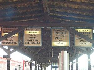 Platform display - Image: Zugzielanzeiger Leinefelde