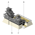 """Consolidation""Japanese castle Tenshu layout format.svg"