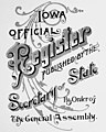"""IOWA OFFICIAL Register published by the Secretary of State By Order of The General Assembly"" art detail, Redbook-1900 (28GA) (page 3 crop).jpg"