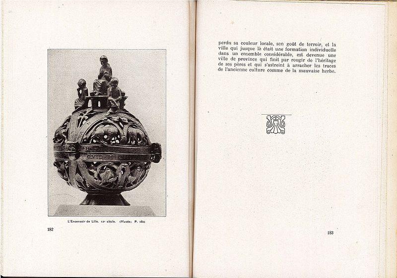 """File:""""Lille"""" par le Lieutenant Feulner - Page 182 et 183.jpg"""