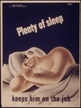 """Plenty of sleep keeps him on the job"" - NARA - 514792.tif"