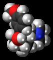 (1R,2S)-Tramadol molecule spacefill.png