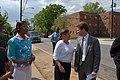 (Earth Day event promoting Washington, D.C. affordable housing-) Secretary Shaun Donovan joining Washington, D.C. Mayor Adrian Fenty, D.C. Delegate to Congress Eleanor Holmes Norton - DPLA - 6ac22a4f42606f7267381553e4b3103b.JPG
