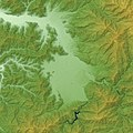 Ōno Basin Relief Map, SRTM-1.jpg